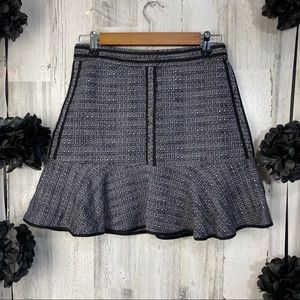 Madewell Textured Ruffle Mini Skirt NWT